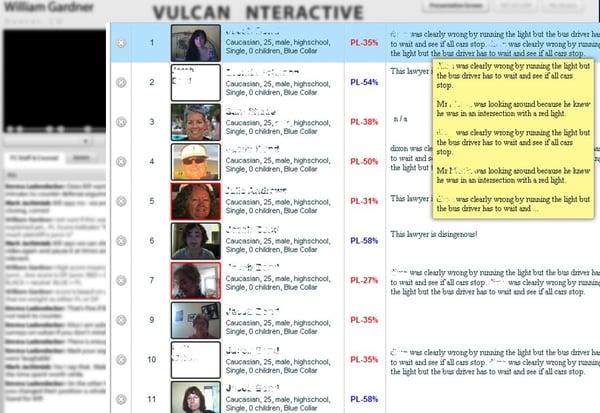 Vulcan juror feedback
