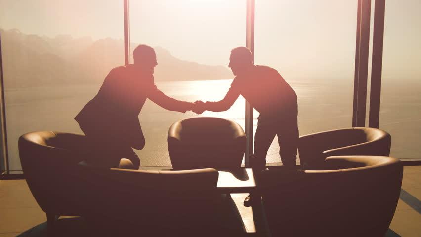 Handshake sunset